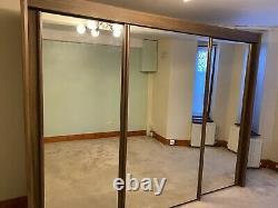 Rauch 3 mirrored sliding door wardrobe