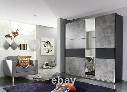 Rauch KORBACH Sliding Door Wardrobe Stone Grey / Anthracite Finish German made