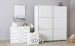 Rauch Palmela White 2 Door Sliding Wardrobe 175cm