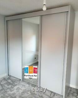 Rauch Ravello 3 Door Sliding Wardrobe German Made Silk Grey Finish W225cm