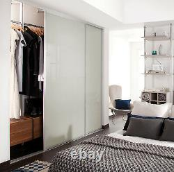 Sliding Wardrobe Doors (Heritage Silver) 2 Door H2260mm, W1454mm S. Panel