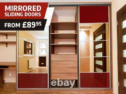 Sliding Wardrobe Doors High Gloss Mirror Colour Panels 650mm x 2000mm