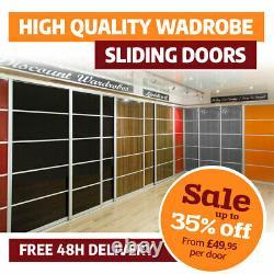 Sliding Wardrobe Doors High Gloss Solid Colour 950mm x 2000mm Track & Rail