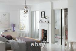 Sliding Wardrobe Doors (Mirrored x 2) & Storage. Up to 1193mm (3ft 11ins) wide