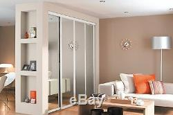 Sliding Wardrobe Doors (Mirrored x 4) & Storage. Up to 2387mm (7ft 10ins) wide