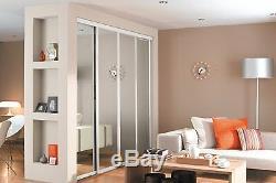 Sliding Wardrobe Doors (Mirrored x 4) & Storage. Up to 3607mm (11ft 10ins) wide