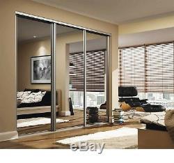 Sliding Wardrobe Mirror Gloss Panel Doors. Made To Measure. Custom Design