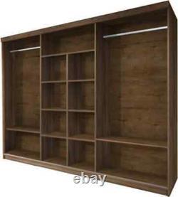 Sliding door wardrobe with mirrors Sino 260 Dark Oak W260cm x H212cm x D74cm