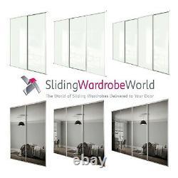SpacePro Classic WHITE Framed WHITE Glass & MIRROR Sliding Door Kits All sizes