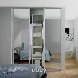 Spacepro Sliding Wardorbe Door Kit W2692mm White Frame Mirror
