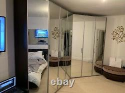 Specious Extra Large Wardrobe Shelves Sliding Door Mirror Rail Cabinet Closet