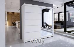 Tally 3- Brand New Wardrobe With Sliding Doors, Full Door Mirror, White
