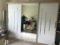 Triple wardrobe used, mirrored sliding doors