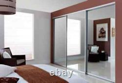 Uk Hand Made 447cm Opening Fitted Sliding Wardrobe Doors + Free Track & Delivery