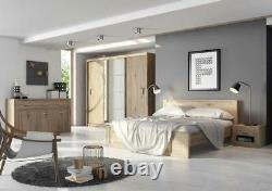 WARDROBE 250cm, MIRRORED 3 sliding doors bedroom living hallway furniture DNID01
