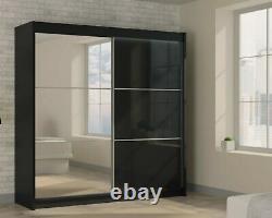 WARDROBE BRAND NEW, 2 COLOURS sliding door bedroom furniture MRVILM 120cm + LED