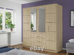 Wardrobe Lily With Sliding Doors White Oak