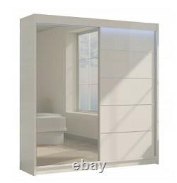 Wardrobe & Mirror, Modern Wardrobe 2 Sliding Doors Bedroom Furniture MRMA 200cm