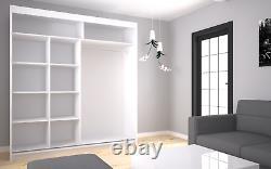 Wardrobe Mirrored Modern 2 Sliding Doors Wardrobe Bedroom Furniture MRRO 200 cm