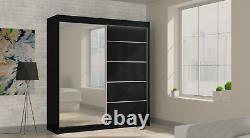 Wardrobe Modern Mirrored Wardrobe 2 Sliding Doors Bedroom Furniture MRMA 200 cm