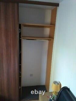 Wardrobe Sliding Doors, Frame Mirror custom made Oak finish Max 2470 high