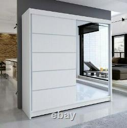 Wardrobe TALIN 3 WHITE with Sliding Doors, Hanging Rail, Brand New