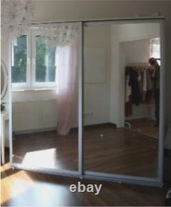 X2 IKEA PAX Malm Silver Double Sliding Mirrored Doors only